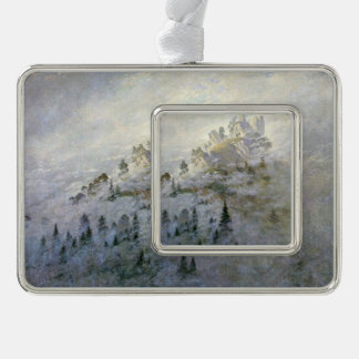 A Snowy Mist on the Mountains Ornament