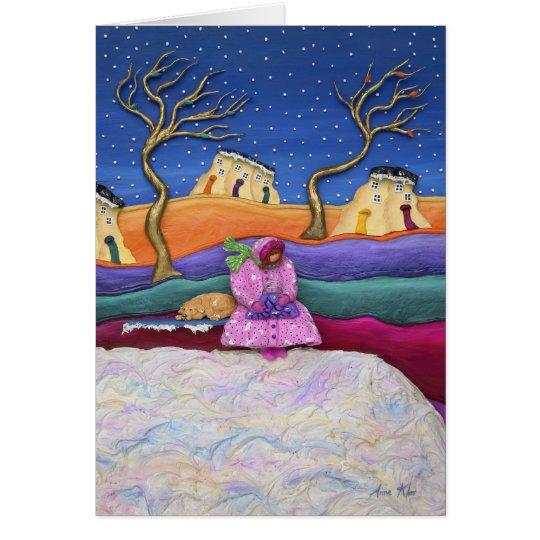 A Snowy Night - Vertical Card