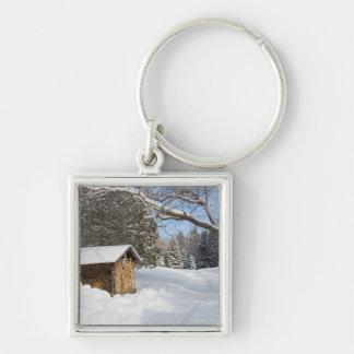 A snowy scene at the AMC's Little Lyford Pond Keychain