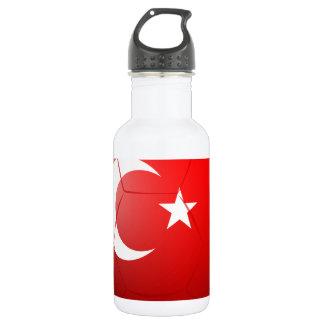 A soccer ball from Turkey 18oz Water Bottle