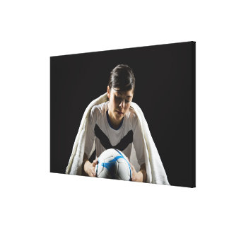 A soccer player 7 canvas print