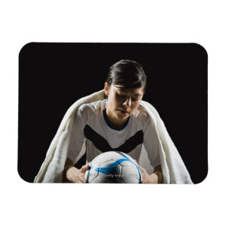 A soccer player 7 rectangle magnet