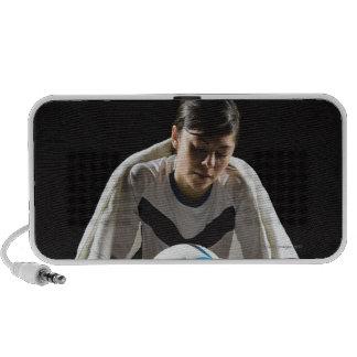 A soccer player 7 mini speaker
