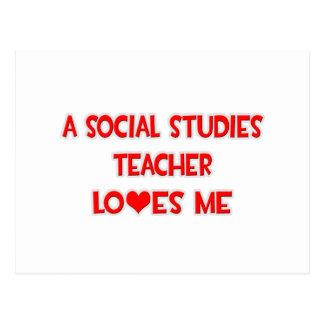 A Social Studies Teacher Loves Me Postcard