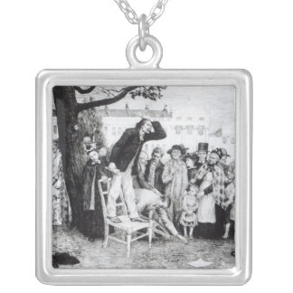 A Socialist Speaker, engraved by W.Strong, 1891 Silver Plated Necklace