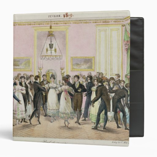 A Society Ball, engraved by Charles Etienne 3 Ring Binder