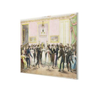A Society Ball, engraved by Charles Etienne Canvas Print