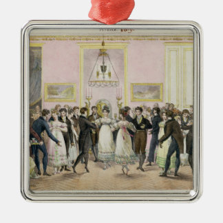 A Society Ball, engraved by Charles Etienne Metal Ornament