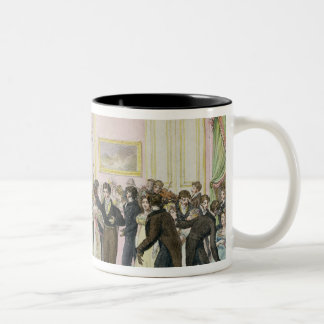 A Society Ball, engraved by Charles Etienne Two-Tone Coffee Mug