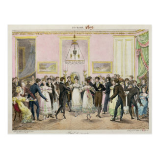 A Society Ball, engraved by Charles Etienne Postcard