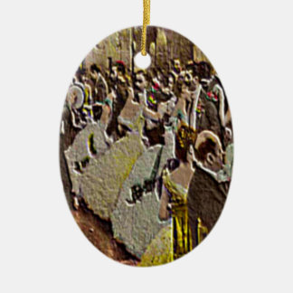 A SOCIETY BALL—SHOWING FASHIONABLE COSTUMES. CERAMIC ORNAMENT
