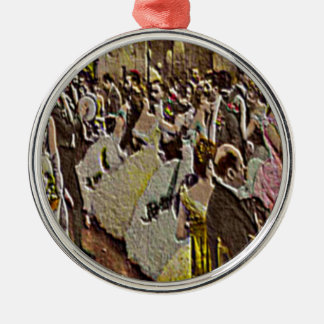 A SOCIETY BALL—SHOWING FASHIONABLE COSTUMES. METAL ORNAMENT