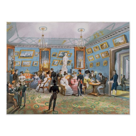 A Society Drawing Room, c.1830 Poster
