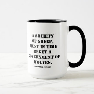 A Society of Sheep-Political Quote Mug