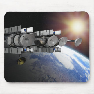 A Solar Power Station orbiting above the earth Mouse Pad