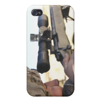 A soldier aims in with his M40A3 Case For iPhone 4