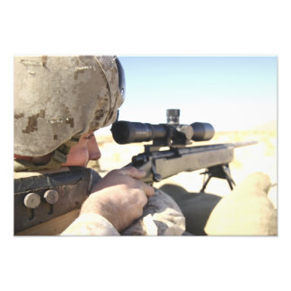 A soldier aims in with his M40A3 Photo Print
