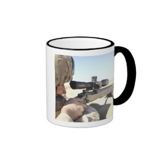 A soldier aims in with his M40A3 Ringer Mug