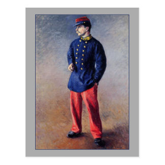 A Soldier by Gustave Caillebotte Postcard