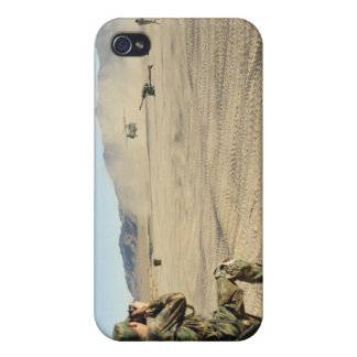 A soldier documents a CH-47 Chinook iPhone 4 Covers