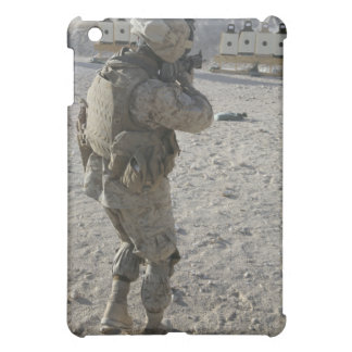 A soldier engages his target on a shooting rang case for the iPad mini