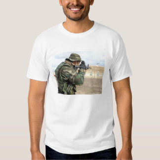 A soldier fires rounds down range tee shirt
