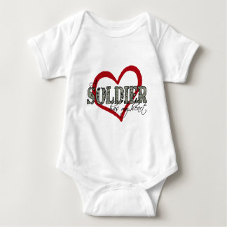 A Soldier Has My Heart Baby Bodysuit