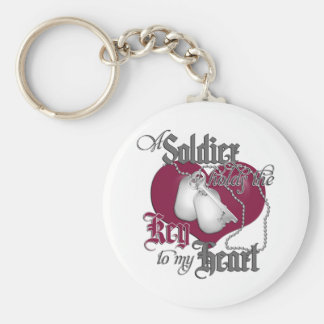 A Soldier holds the key to my Heart Keychain