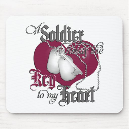 A Soldier holds the key to my Heart Mouse Mats