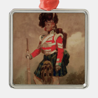 A Soldier of the 79th Highlanders at Chobham Metal Ornament