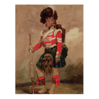 A Soldier of the 79th Highlanders at Chobham Postcard