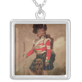 A Soldier of the 79th Highlanders at Chobham Silver Plated Necklace