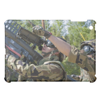 A soldier operates a missile launcher iPad mini cover