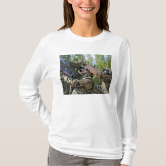 A soldier operates a missile launcher T-Shirt