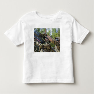 A soldier operates a missile launcher toddler t-shirt