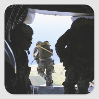 A Soldier performs a static-line jump Stickers