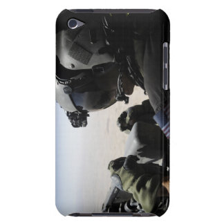 A soldier provides security iPod Case-Mate case