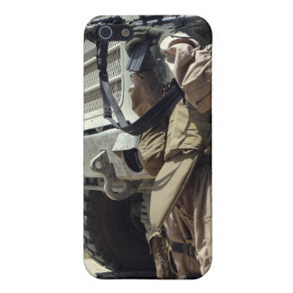 A soldier provides security for Marines iPhone SE/5/5s Cover