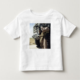 A soldier provides security for Marines Toddler T-shirt