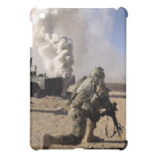 A Soldier reacts to a controlled explos iPad Mini Cover