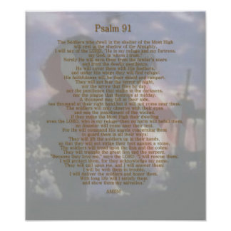 A Soldier s refuge Psalm 91 Print
