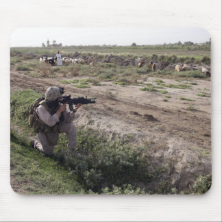 A soldier scans the distance mouse pad