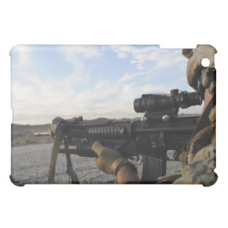 A soldier sights in to fire on a target iPad mini covers