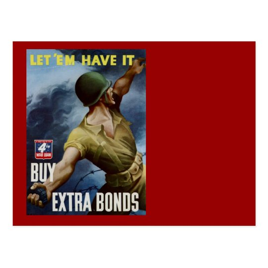 A Soldier Throwing a Grenade Postcard