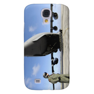 A soldier waits for his C-17 Globemaster III Samsung Galaxy S4 Case