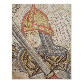 A soldier with a sword print