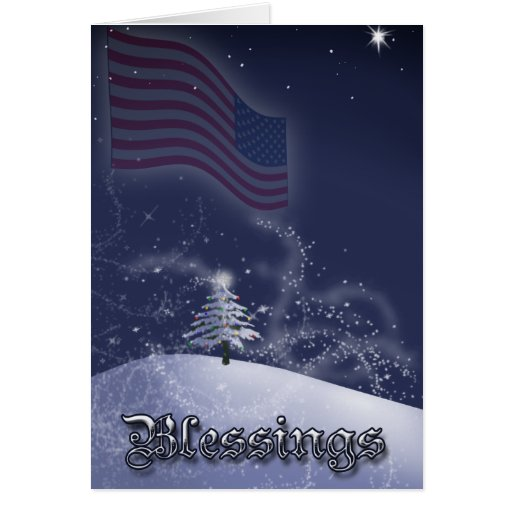 A Soldiers Christmas Blessing Card