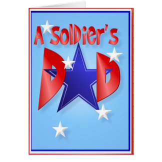 A Soldier's Dad Card
