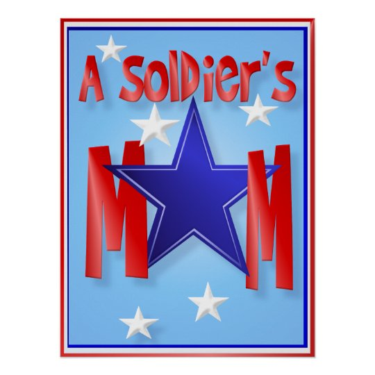 A Soldier's Mom Cards Poster