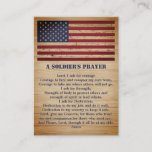 A Soldier's Prayer American Flag Military  Business Card